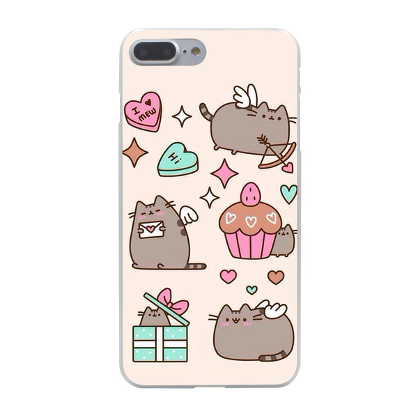 more photos 74baa 7e9c0 Cute Funny Lovely Pusheen Cat Soft TPU SILICON Cover Case for IPhone 5 5s  5c SE 6 6S 6Plus 6sPlus 7 7plus 8 8plus X