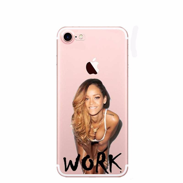 finest selection 99327 efe62 Funny Soft Clear Kim Kardashian Crying Face Emoji Rihanna Drake Work Phone  Case for iPhone 7 7plus 6 6S 5S 5 SE 6Plus 8 8Plus X