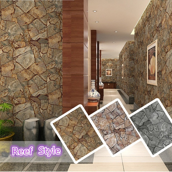 3d Pvc Stone Pattern Wallpaper Home Decor Bedroom Reading Room Wall Paper
