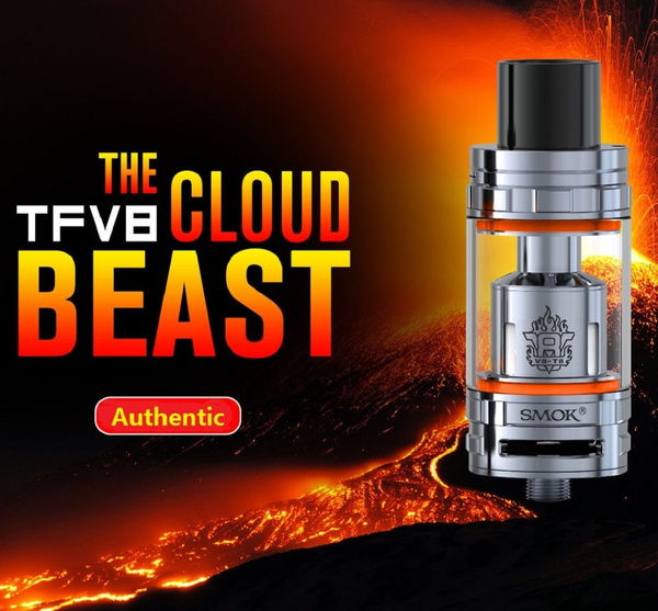 SMOK TFV8 Baby Beast Tank V8 RBA Glass Grub Screws Rebuildable Coil Deck