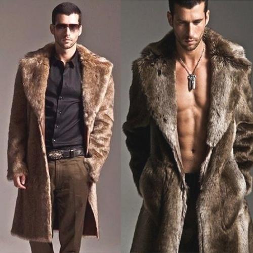 c1909dc42aebed Hot Sale Mens Leather Fur Coat Luxury Winter Warm Overcoat Fur Parka Thick Coat  Long Outwear Jacket | Wish
