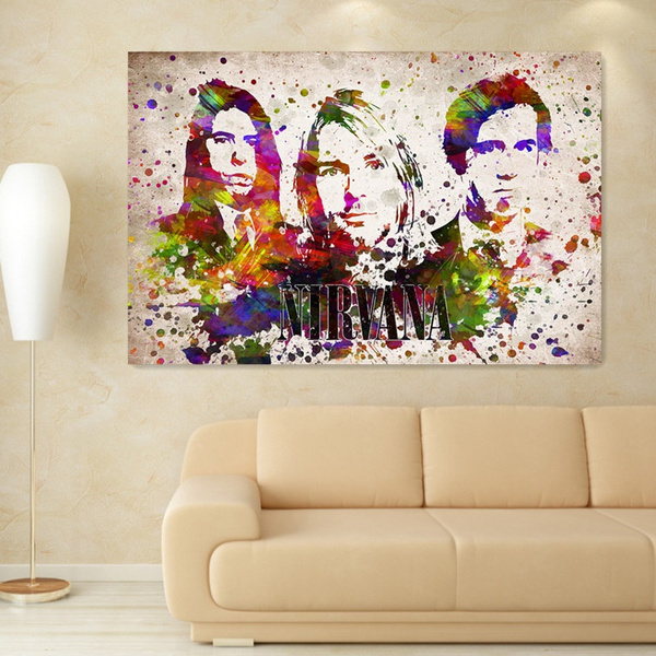 Wish | Watercolor Painting Kurt Cobain Portrait Oil Painting On ...