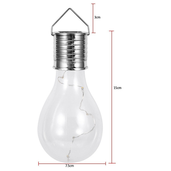 Solar Lamp Outdoor Garden Birne Camping Hanging LED Light Bulb Waterproof Lampe