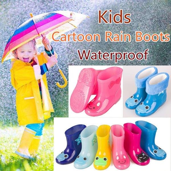 wish rain boots kids rubber boots children spring fall waterproof