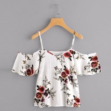 blouse, Summer, looseblouse, shouldertop