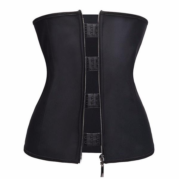 01ad7493bcf HEXIN Latex Waist Trainer with Garter Belt Steel Boned Body Shaper Slimming  Underwear Belt Waist Shaper Corset Underbust 6XL