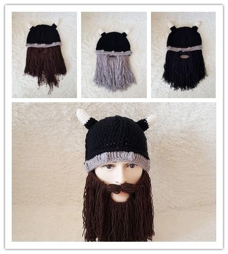 9f7f9904e51 Horned Viking Hat Fake Beard Northern European Style Scandinavian ...