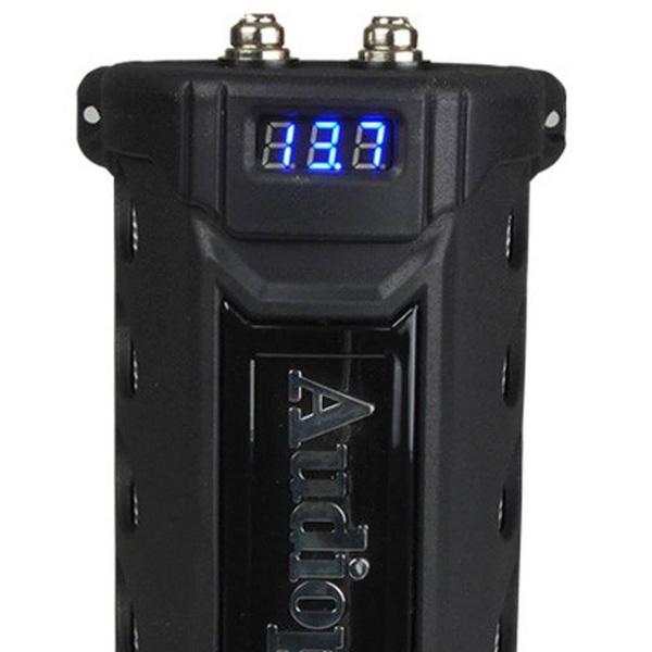 New Audiopipe ACAP-6000 6 Farad Power Car Audio Capacitor Digital Display Black Nippon
