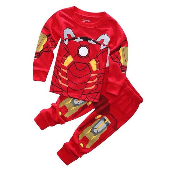Wish Spider Man Iron Man Baby Kids Boys Costume Sleepwear Pajamas