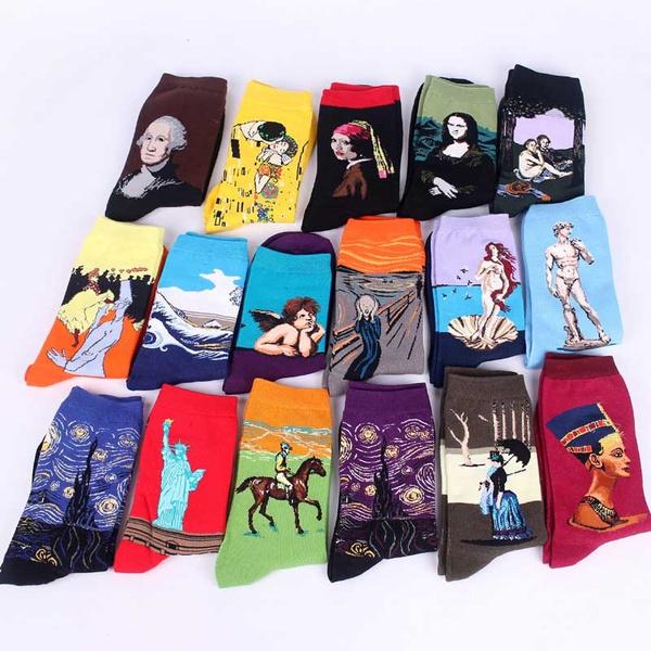 Fashion, art, Skateboard, Cotton Socks