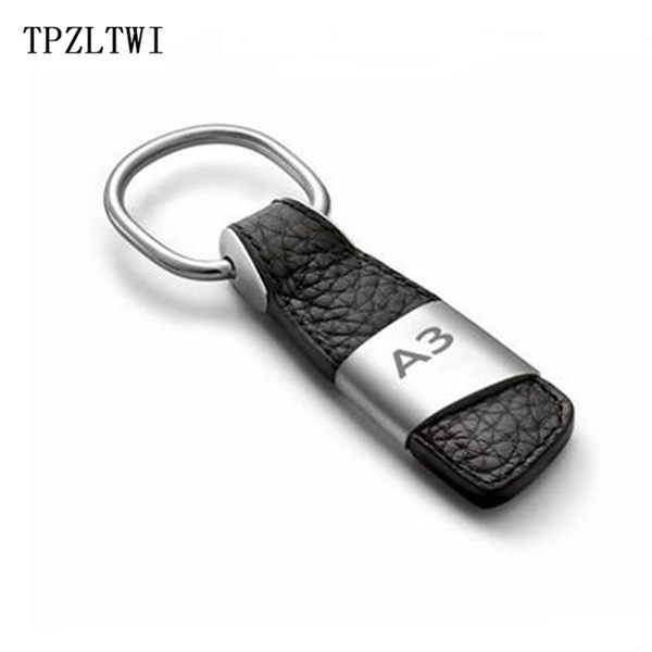 For Audi A3 8P 8L 8V S3 RS3 RS Emblem Badge Car Keychain Auto Key Rings  Holder Car Styling