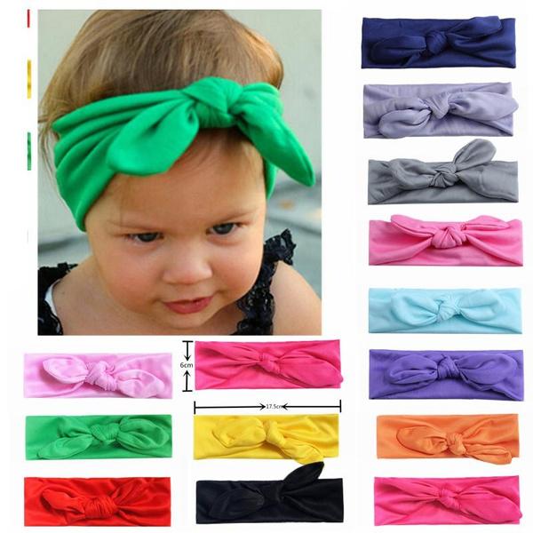Kids Baby Girls Head Accessories Hair Band Toddler Elastic Rabbit Ear Headwear