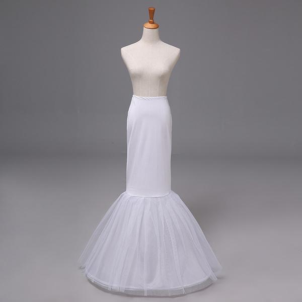 NEW White Trumpet Mermaid Style Slip Petticoat Sz Large