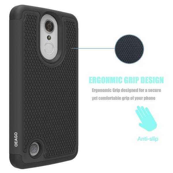 LG Rebel 3 LTE Case, LG Aristo Case, LG Phoenix 3 Case, LG Fortune Case, LG  Rebel 2 LTE Case, LG Risio 2 Case, LG K8 2017 Case, [Shockproof] Hybrid