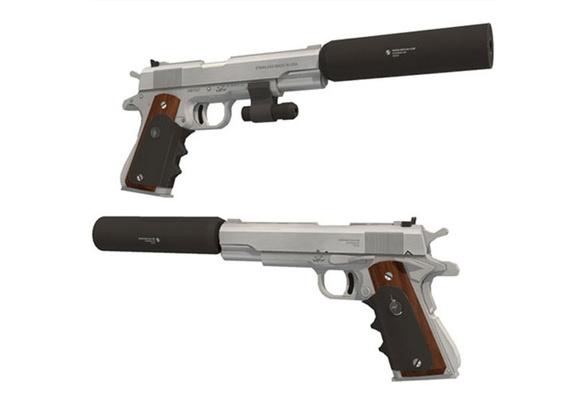Diy 1 1 Hitman Silverballer Colt M1911 Pistol Gun Paper Model Assemble Hand Work 3d Puzzle Game Kids Toy Wish