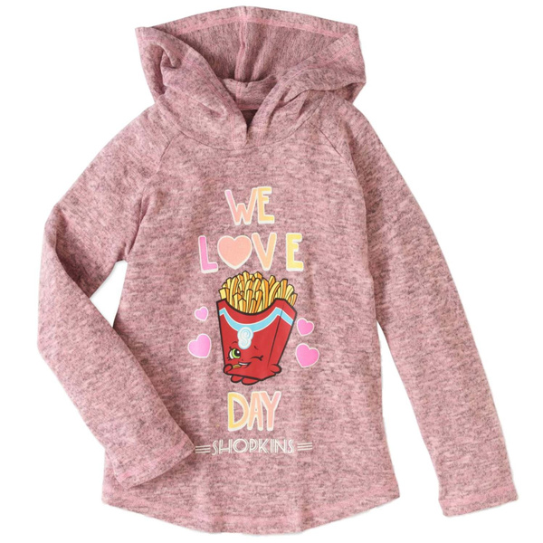 Shopkins Girls Pink We Love Fry Day Hoodie Friday Frenchfry T-Shirt