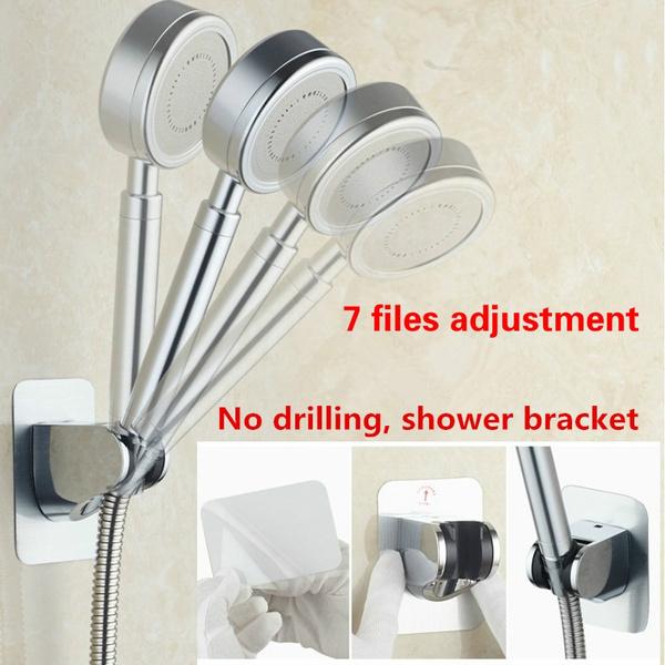 Image result for Punch-free shower bracket