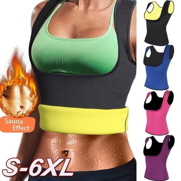 Plus Size S-6XL Women Neoprene Shaperwear Waist Traine Push Up Vest Tummy Belly Girdle Hot Body Shaper Waist Cincher Corset