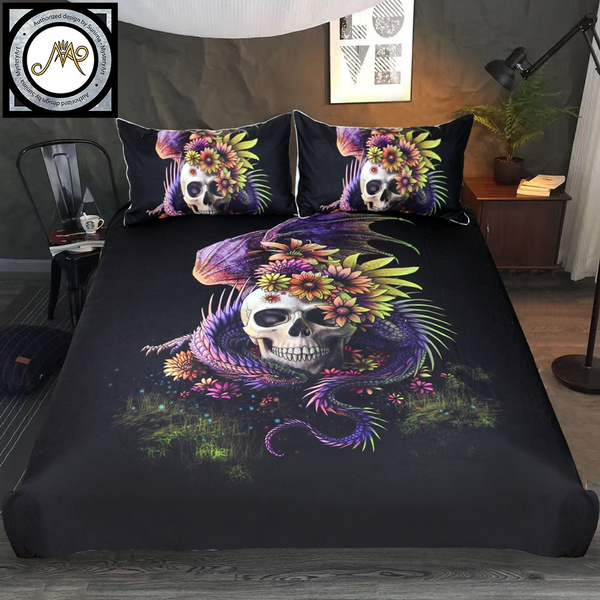 Sunima Bedding Set Purple Flower