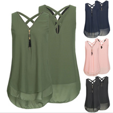 Summer, Vest, Plus Size, Tops & Blouses