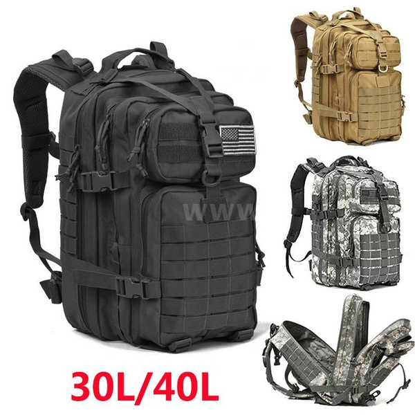 f4ea9ee4a3be Romacci Lixada 30L/40L Assault Pack Army Molle Bug Out Bag Travel Backpack  for Outdoor Hiking Camping Hunting