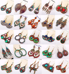 Dangle Earring, Jewelry, Assorted, exaggerated