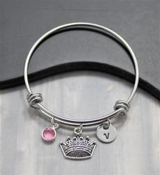 Charm Bracelet, crown, princessbangle, Jewelry