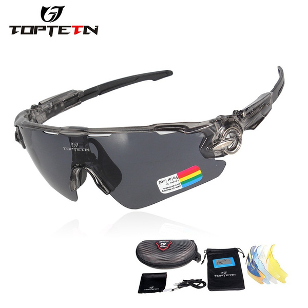 Wish Toptetn Brand 5 Lenses Rushed Outdoor Cycling Sunglasses