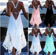 Lace Dress, halter dress, Encaje, Vestidos