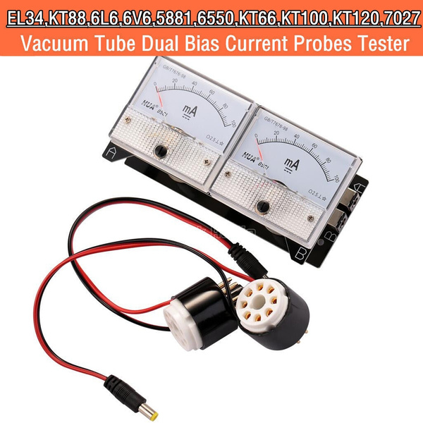 8-Pin Dual Bias Current Probes Tester VU Meter for EL34 KT88 6L6 6V6 6550  7027 Vacuum Tube Amp