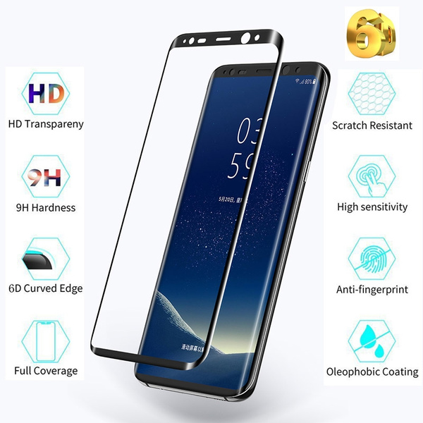 6D Tempered Glass Screen Protector for Samsung Galaxy S9 / S9 Plus Mobile  Phone Protective Film Perfect Full Coverage Scratch Resistant Tempered  Glass