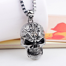 Chain Necklace, skullpendantnecklace, Jewelry, Chain