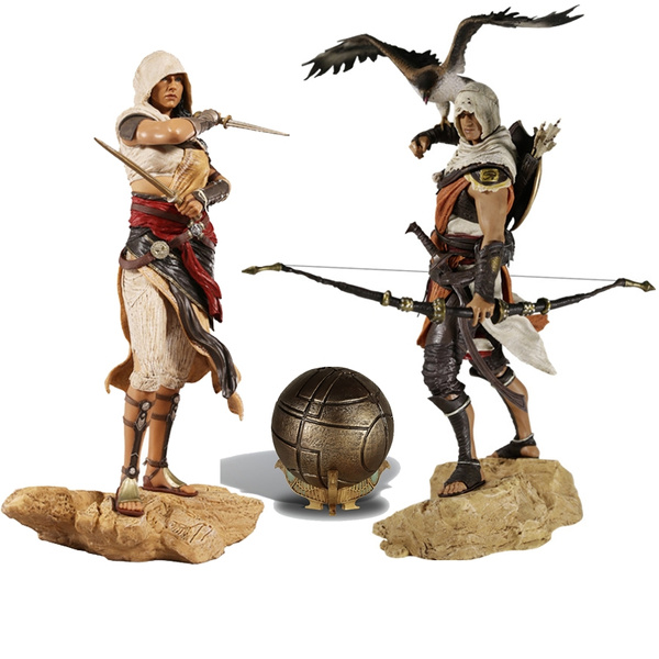 Hot Bayek Aya Assassin S Creed Origins Action Toy Figures Pvc Model Collection For Girls Kids Lover Children Best Birthday Gift Wish
