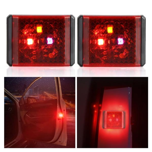 Wish | 1 Pair Durable LED Door Warning Light Anti-Collision