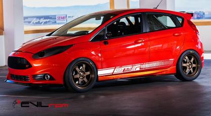 1set2pcs Ford St Door Strip Fiesta Focus Stickers St150