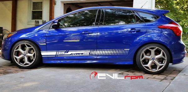 1set2pcs Ford Focus Mk3 Seitenstreifen Aufkleber Sticker Grafik Seitenstreifen