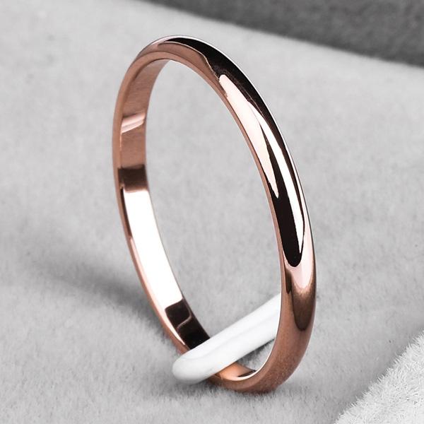 tailring, Steel, titanium, Rose Gold Ring