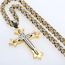 Steel, Christian, Cross necklace, Cross Pendant