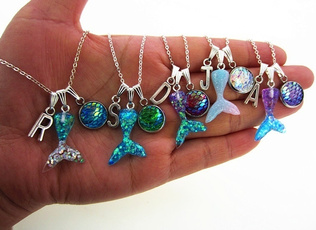cute, mermaidnecklace, mermaidpartyfavor, mermaidnecklaceforsisiter