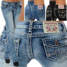 Damenjeans High Waist  Stretch Jeans Hose Röhre  Röhrenjeans 323