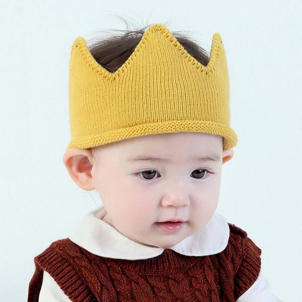 Cap Woolen Yarn Bonnet Hair Accessories Headband Baby Hats  Crown Knit Cap