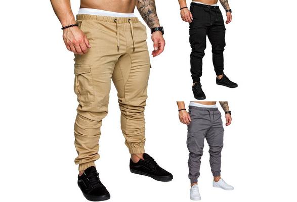 2018 High Quality Men's sport joggers Hip Hop Jogging Fitness Pant Casual Pant trousers Sweatpants M-4XL