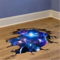 Blues, decoration, cosmicgalaxy, 3dvinylwallsticker