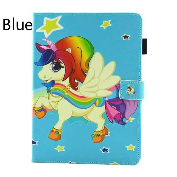 Wish multifunction rainbow unicorn painted leather wallet case for leather wallet case for ipad mini 1 2 3 4 ipad air 23456 ipad pro 97new ipad 97 2017 ipad pro105ipad 97 2018 stand cover cute coque funda thecheapjerseys Image collections