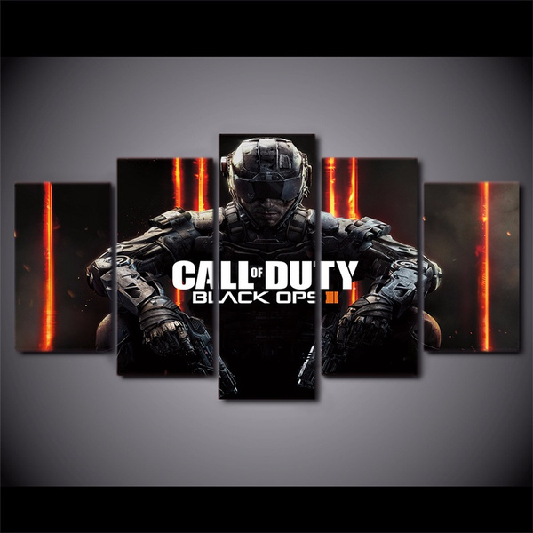 5 Piece Canvas Art Hd Print Call Of Duty Black Ops 3 Game Poster Canvas Paintings For Living Room Home Decor Wish