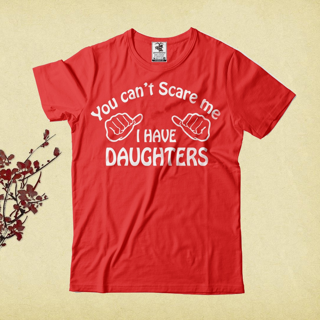 Father Of Daughters T Shirt Gift For Dad Birthday Funny Tee Cotton Man Tops