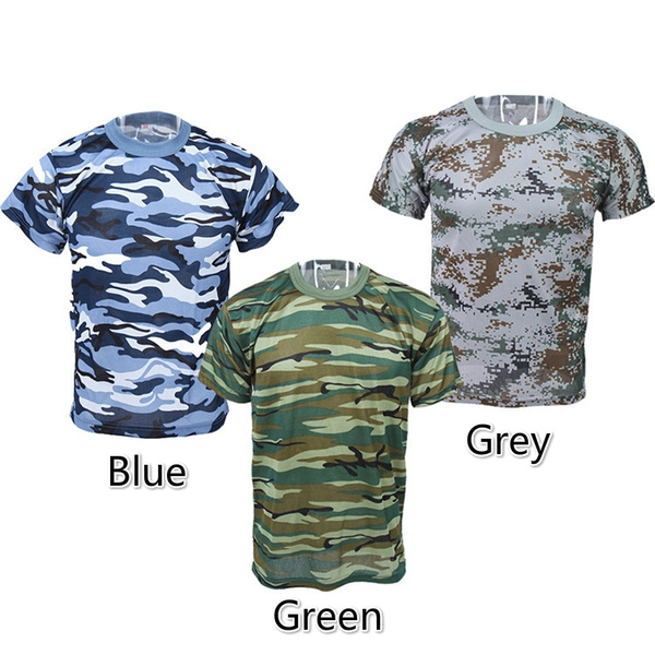 e19dc28e New Camouflage T-shirt Men Breathable Army Tactical Combat T Shirt ...