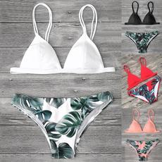 bathing suit, Fashion, leaf, bikini set