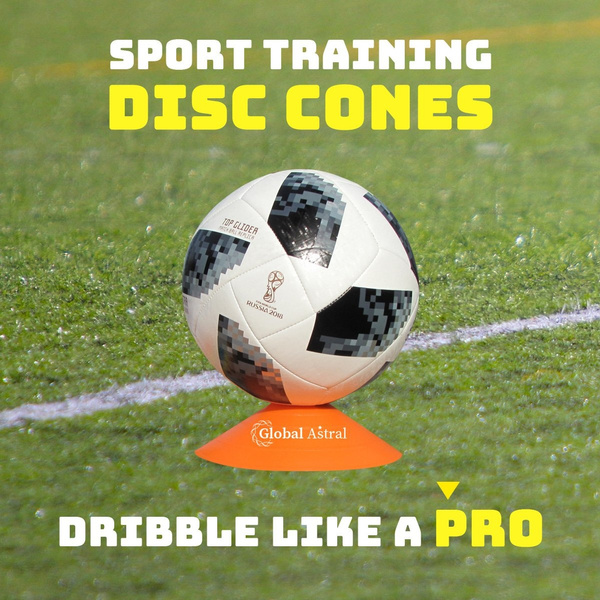 Set Of 60 - Disc Cones, Soccer Disc Cones, Agility Cones For Drills,  Football, Basketball, Slalom, Sports, Training, Kids And Dogs - Field  Markers
