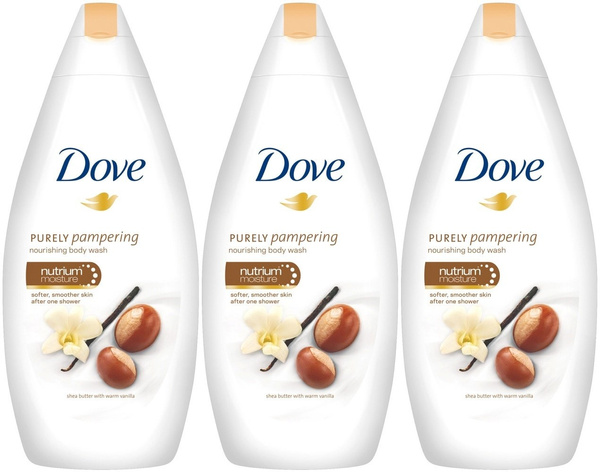 Dove Purely Pampering Body Wash Shea Butter With Warm Vanilla 16 9 Ounce 500 Ml Pack Of 3 Wish